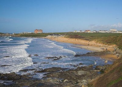 Fistral Beach and the headland