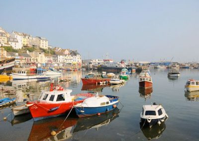 Brixham Harbour is just a 5 minute walk from 6 Linden Court