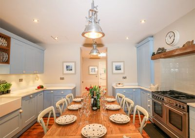 The kitchen & dining area at 62 Esplanade, Fowey