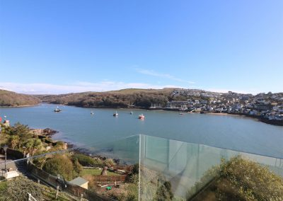 The view from the balcony at 62 Esplanade, Fowey