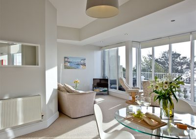 The living area at 7 Astor House, Torquay