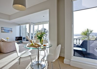 The dining area at 7 Astor House, Torquay