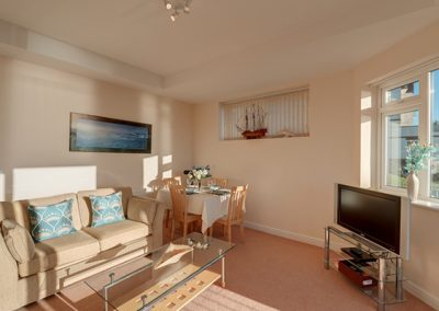 The living area @ 7 Vista Apartments, Paignton