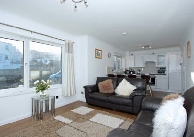 The living area @ 7 Waters Edge, Newquay