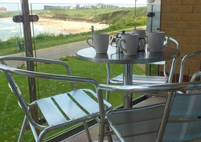 The balcony has great views across the beach @ 7 Waters Edge, Newquay