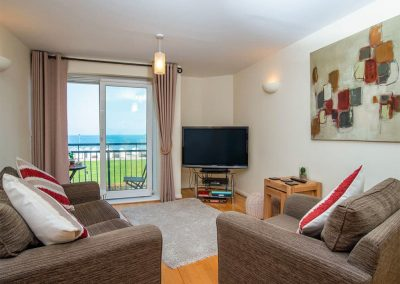 The living area at 8 Belvedere Court, Paignton