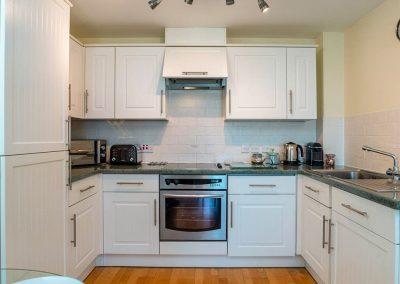 The kitchen at 8 Belvedere Court, Paignton