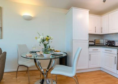 The dining area at 8 Belvedere Court, Paignton