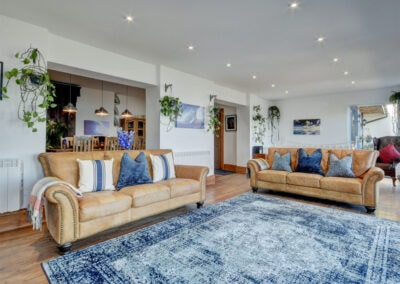 The living area at Oh My Sea, Lynton