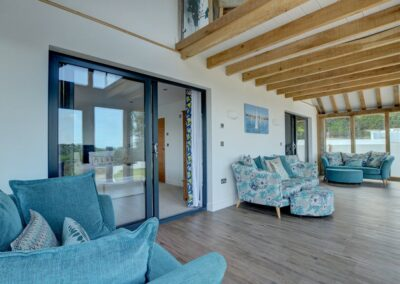 The viewing gallery at Seaglass, Watermouth
