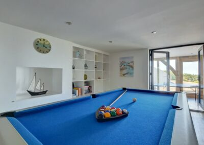 The games room at Seaglass, Watermouth