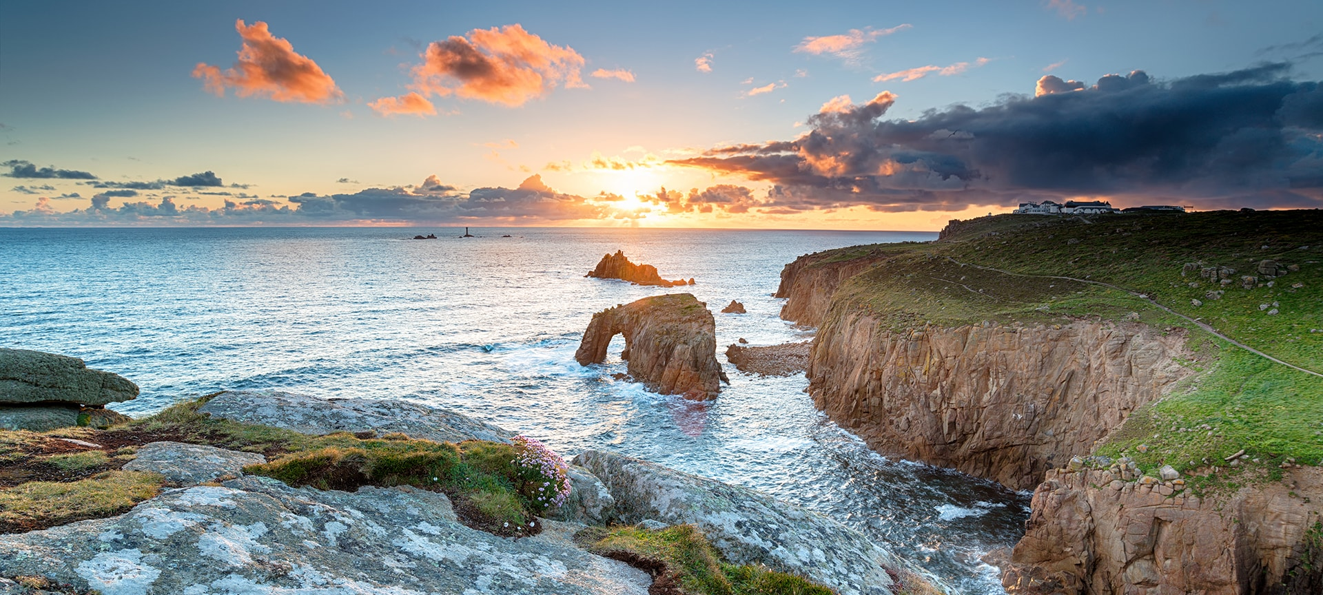 Natural Land's End is only a short walk from the main visitor centre and designated pathways will lead you to discover some truly breath-taking views, including magnificent granite cliffs, the famous Longships Lighthouse and the Isles of Scilly, which are visible on clear and sunny days.