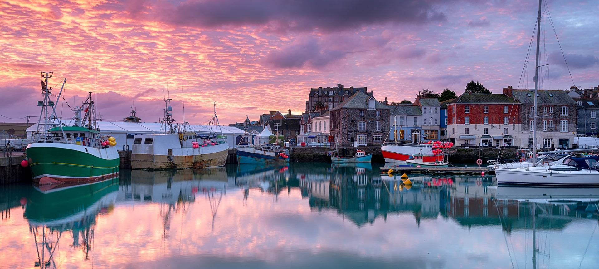 Padstow is a charming working fishing port and famous foodie destination - surrounded by glorious sandy beaches and is the start & end point for The Camel Trail.