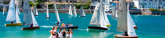 Salcombe at the South Devon Coast is more than just another harbour town – located within the South Devon Area of Outstanding Natural Beauty, it has become especially popular with the rich and famous and is home to more yachts than anywhere else in Devon.