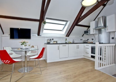 The open-plan kitchen & dining area at Anchor Cottage, Strete