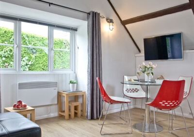 The open-plan dining area at Anchor Cottage, Strete