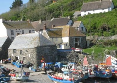 From Angel Cottage, Lizard coastal walks lead to many small sandy coves such as Cadgwith