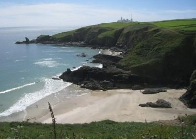 From Angel Cottage, Lizard coastal walks lead to many small sandy coves such as Housel Bay