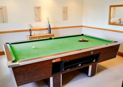 The games room at Anneth Lowen, Rescorla Farm Cottages, Rescorla