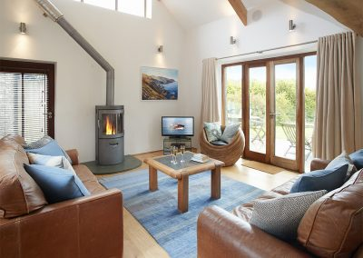 The living area at Apple Barn, East Portlemouth