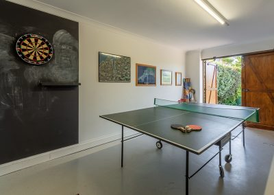 The games room at April Cottage, Roserrow, Polzeath