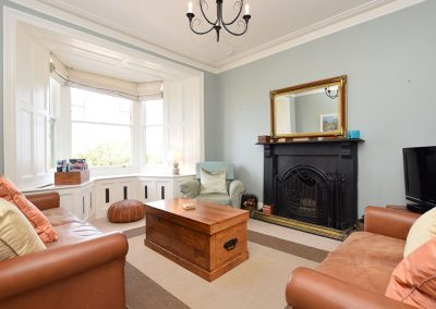 The living area at Atlantic View, Carnyorth