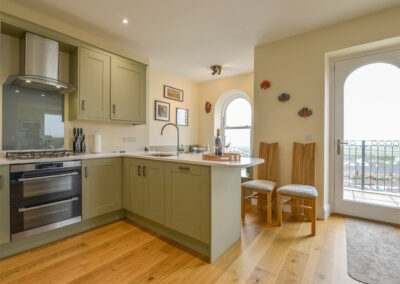 The kitchen at Atlantic View, Westward Ho!