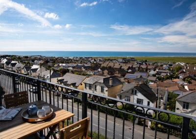 The balcony at Atlantic View, Westward Ho!
