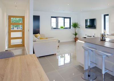 The open-plan living & dining area at Avalen Rise, Newlyn
