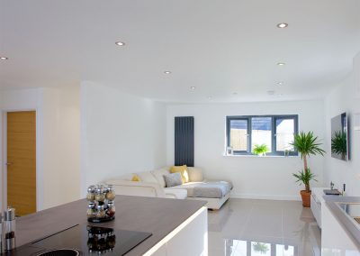 The open-plan living area at Avalen Rise, Newlyn