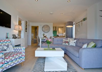 The living area @ Avocet 1, The Cove, Brixham