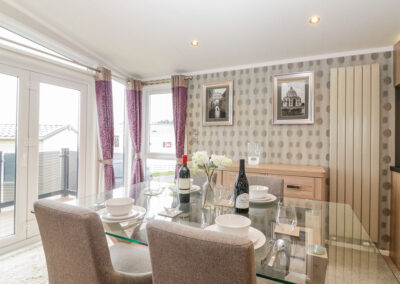 The dining area at B26, Landscove Holiday Village, Brixham