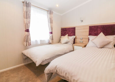 Bedroom #2 at B26, Landscove Holiday Village, Brixham