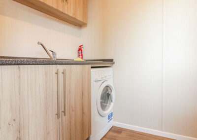 The laundry room at B26, Landscove Holiday Village, Brixham