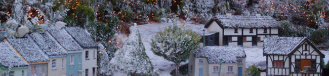 Visit Babbacombe's Model Village during the Christmas period & you'll think you have stumbled into a community in the middle of their Christmas celebrations.