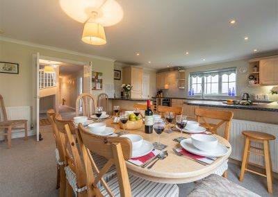 The dining area at Badgers Drift, Trebetherick