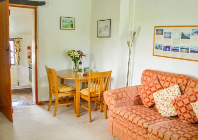 The living & dining area at Barley Cottage, Hartland