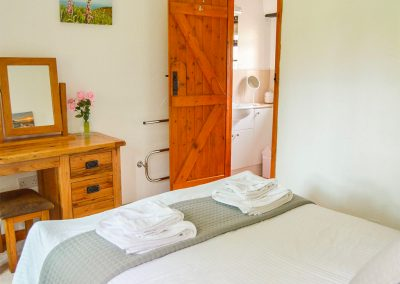 The bedroom at Barley Cottage, Hartland