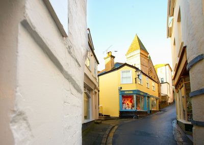 The charming streets of Fowey