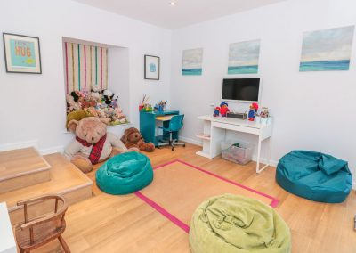 The children's playroom at Barrington House, Dartmouth