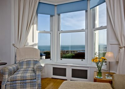 The living area at Bay House, Brixham