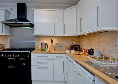 The kitchen at Bay House, Brixham