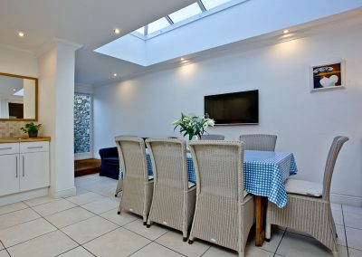 The dining area at Bay House, Brixham