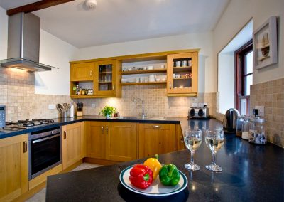 The open-plan kitchen at Bayview, Portwrinkle