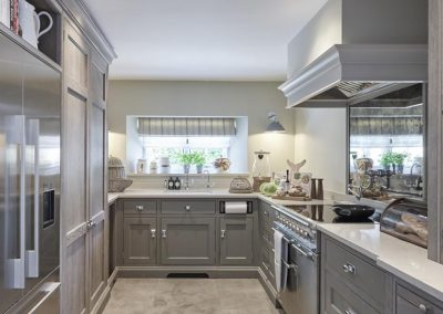 The kitchen at Beach Bay Cottage, Croyde