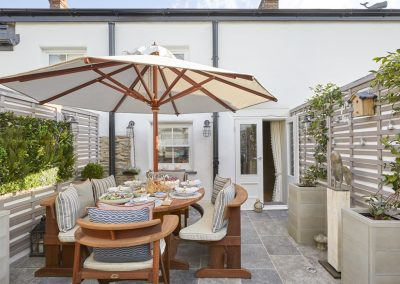 The terrace at Beach Bay Cottage, Croyde