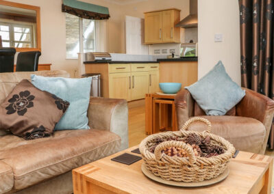 The living area at Beach Lodge, Woolacombe