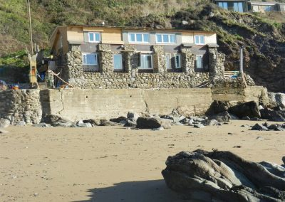 Outside Beachcomber's Cottage, Treninnow Cliff