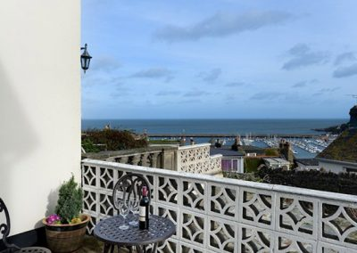 The patio @ Beaching with views towards Brixham Harbour