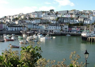 Brixham Harbour is a short walk from Beaching